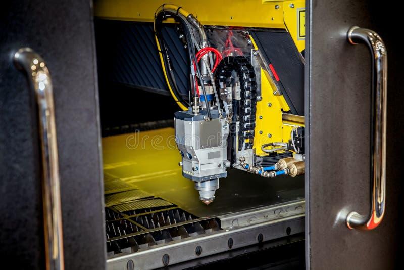 Dynamic laser cutting machines stock photo