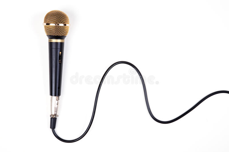 Download A dynamic microphone stock photo. Image of object, cable - 10671176