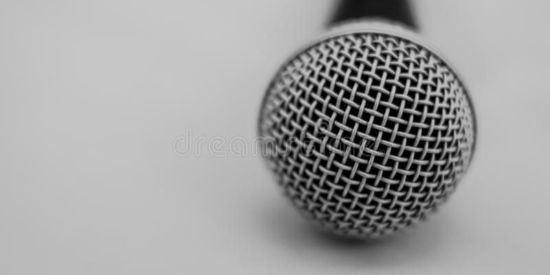 Dynamic microphone capsule with protective mesh in detail royalty free stock photo