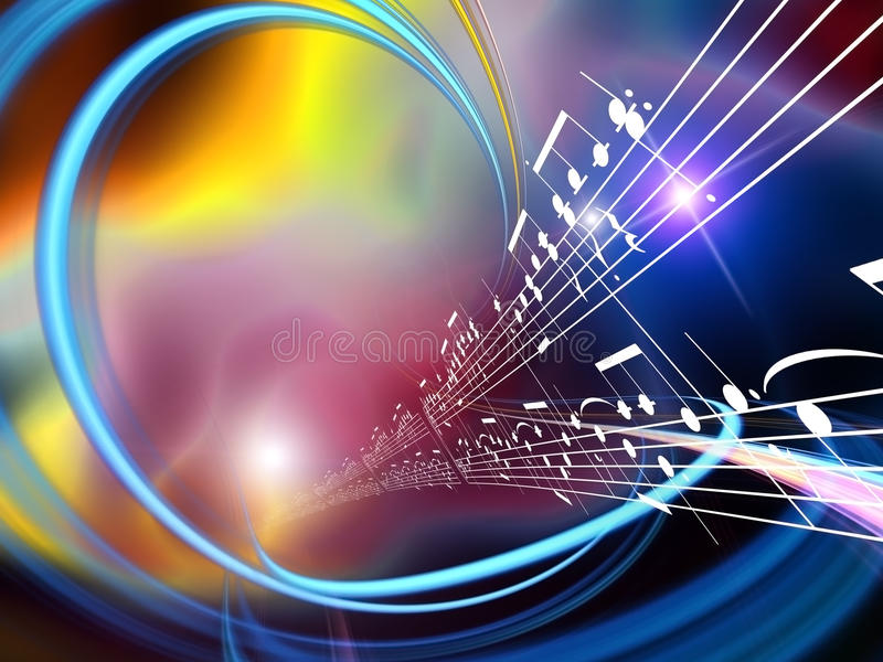 Dynamic Music Abstract stock illustration