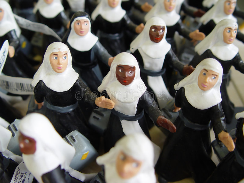 dynamic nuns royalty free stock photography