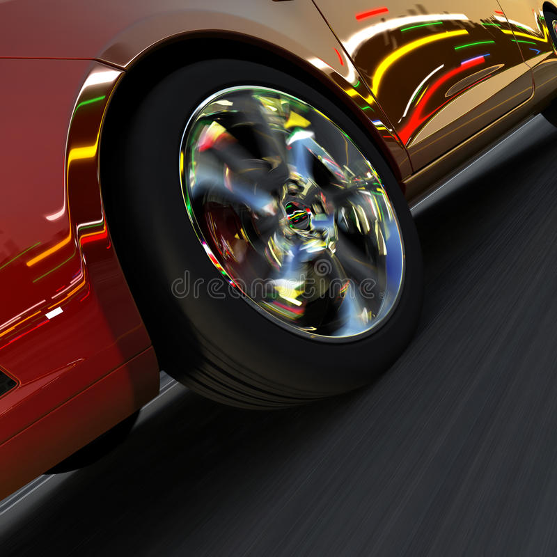 Download Dynamic Racing Car And The Lights Stock Illustration - Illustration of race, night: 23610557