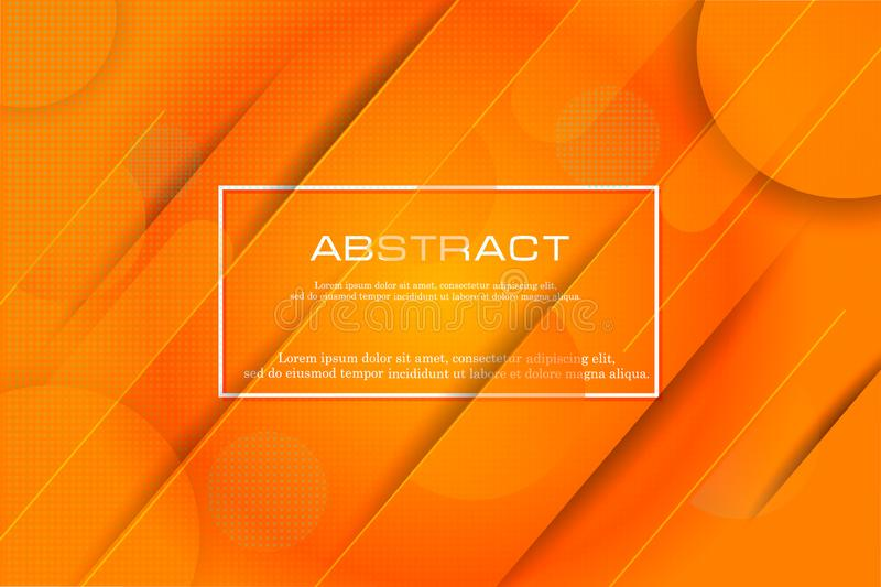 Dynamic textured background design in 3D style with orange color. Dynamic textured background design in 3D style with orange colo royalty free illustration