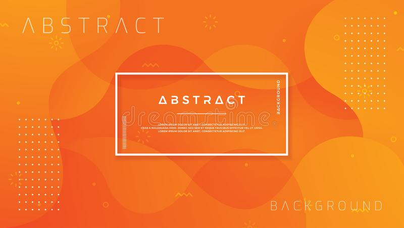 Dynamic textured background design in 3D style with orange color. EPS10 Vector background.  stock illustration