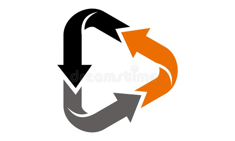 Dynamic Triangle Vector. Logo Design Template Vector stock illustration
