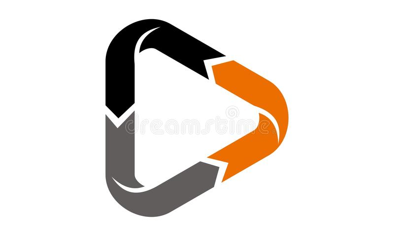 Dynamic Triangle Vector. Dynamic Triangle Logo Design Template Vector vector illustration