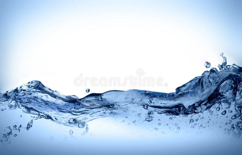Dynamic water move. Dynamic water in at strong move stock image