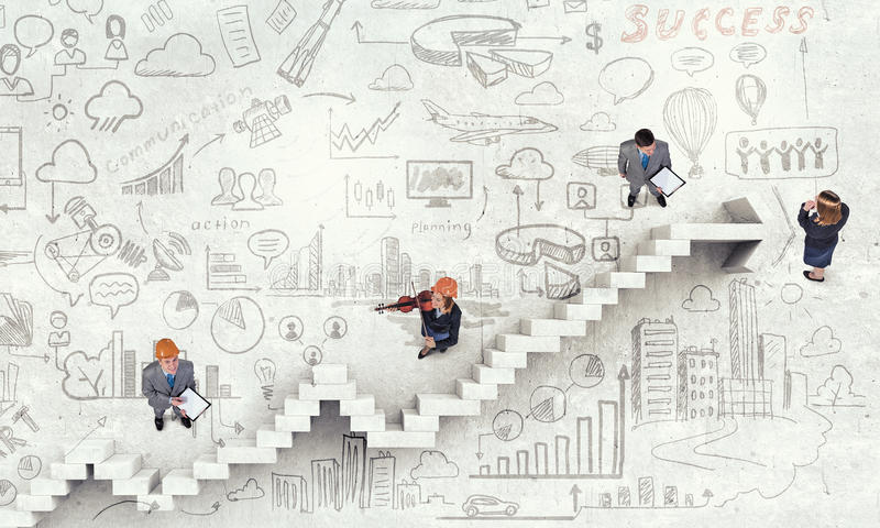 Dynamics of growth in business stock photos