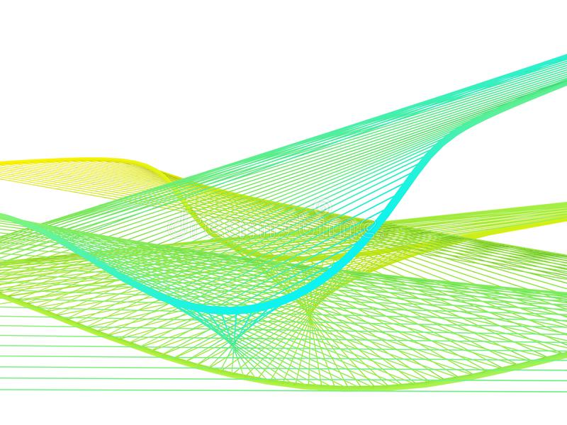 Dynamiczna i Jaskrawa Liniowa spirala z Kolorowym gradientem zdjęcia stock