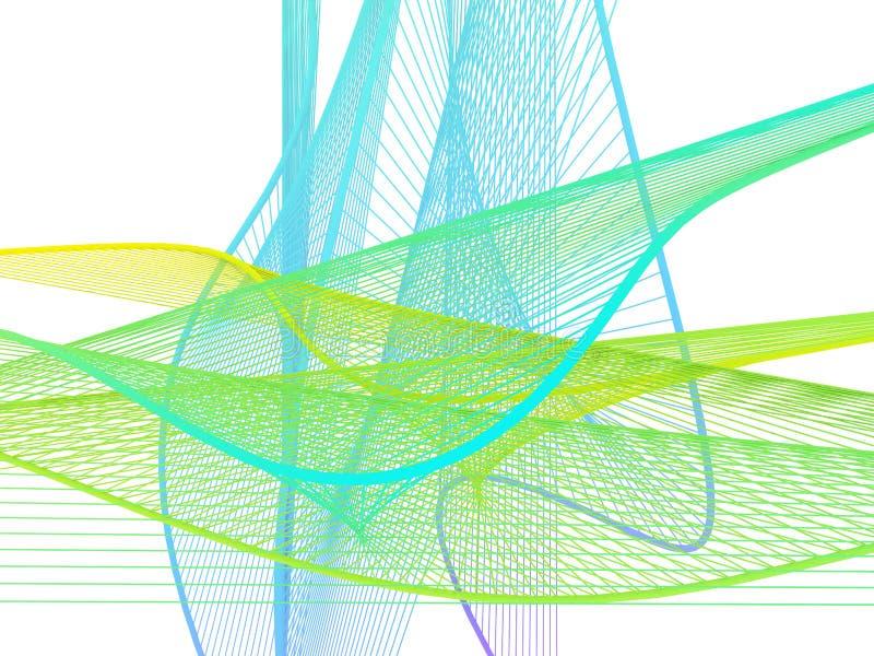 Dynamiczna i Jaskrawa Liniowa spirala z Kolorowym gradientem fotografia royalty free