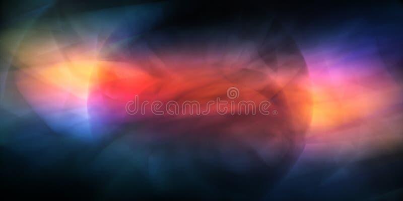 Dynamiczna kolorowa abstrakcja ilustracja wektor