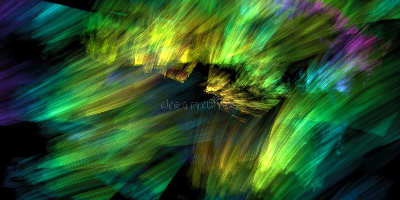 Dynamiczna kolorowa abstrakcja ilustracji