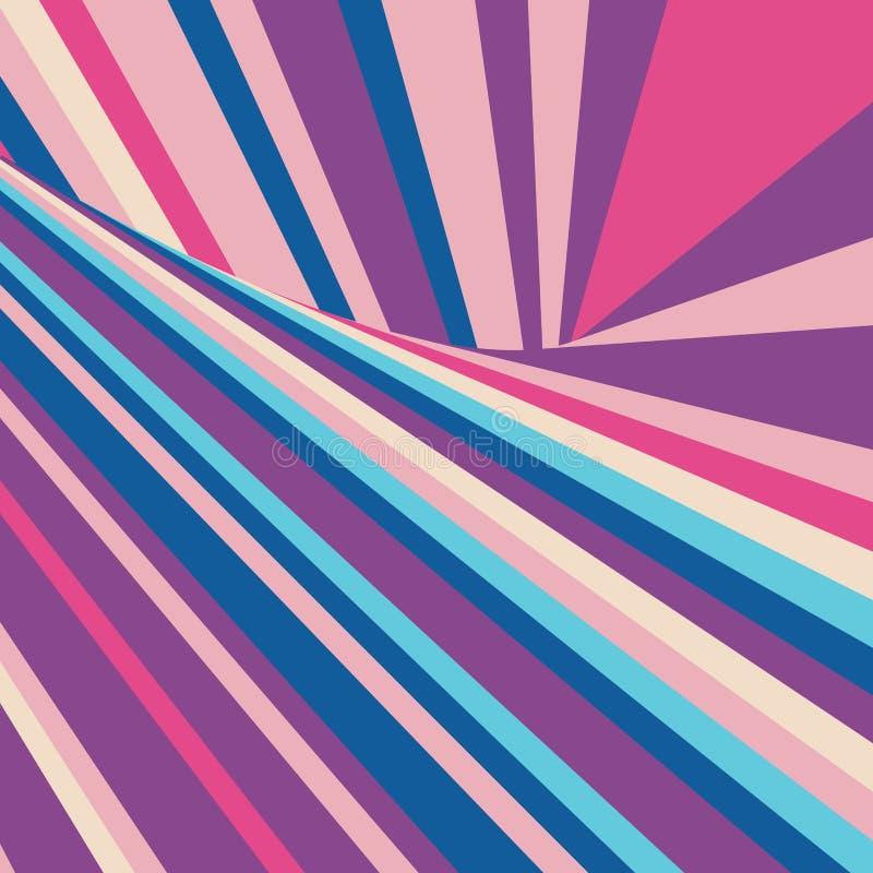 Dynamicznego Abstrakcjonistycznego zawijasa Wektorowego lampasa Geometryczny Kolorowy tło ilustracji