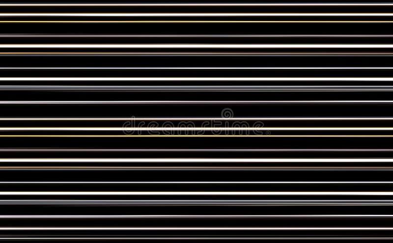 Dynamicznego czarnego białego żółtego szerokiego lampasów bloków dekoraci horyzontalnego projekta surowy projekt zdjęcie stock