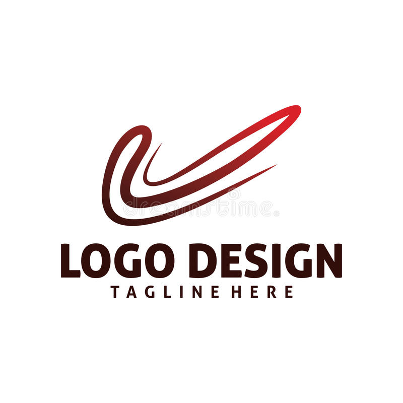 Dynamicznego czeka logo ilustracja wektor