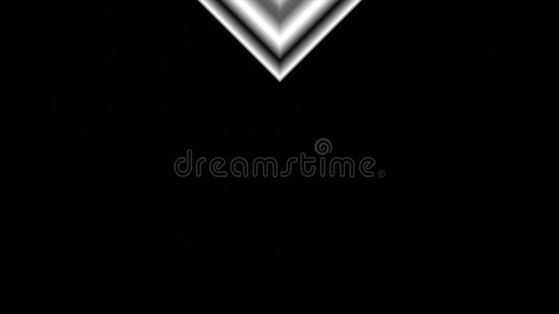 Dynamicznej czarny i biały przemiany pionowo animacja z V kształtuje zakrywać ekran i wtedy inverting wyjawiać a ilustracji