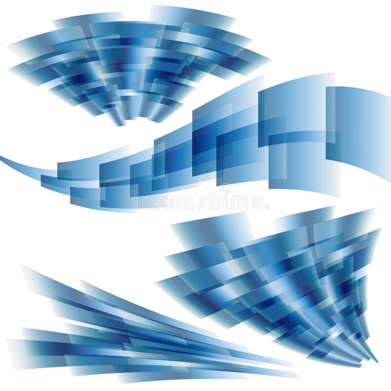 Dynamiczni kwadraty ilustracji