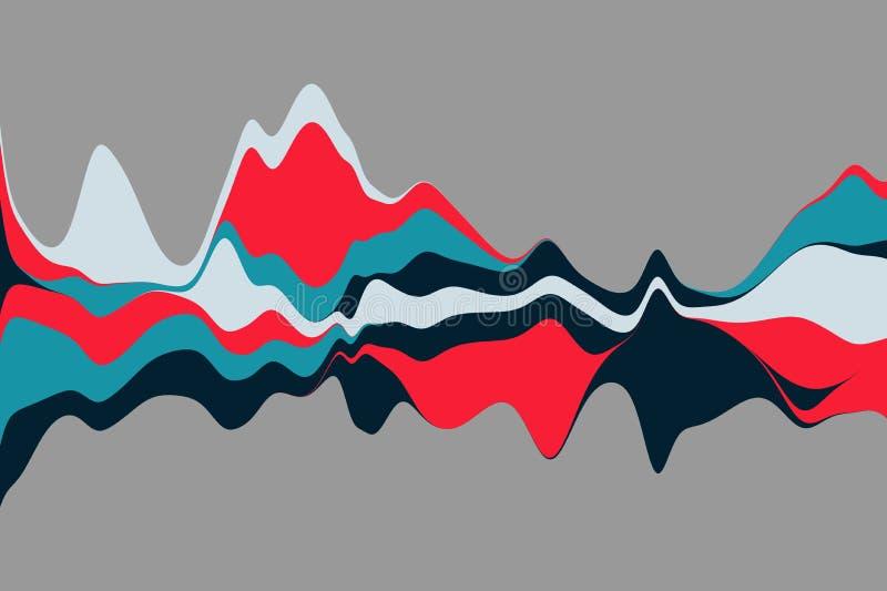 Dynamiczny abstrakcjonistyczny tło z kolor fala również zwrócić corel ilustracji wektora ilustracja wektor