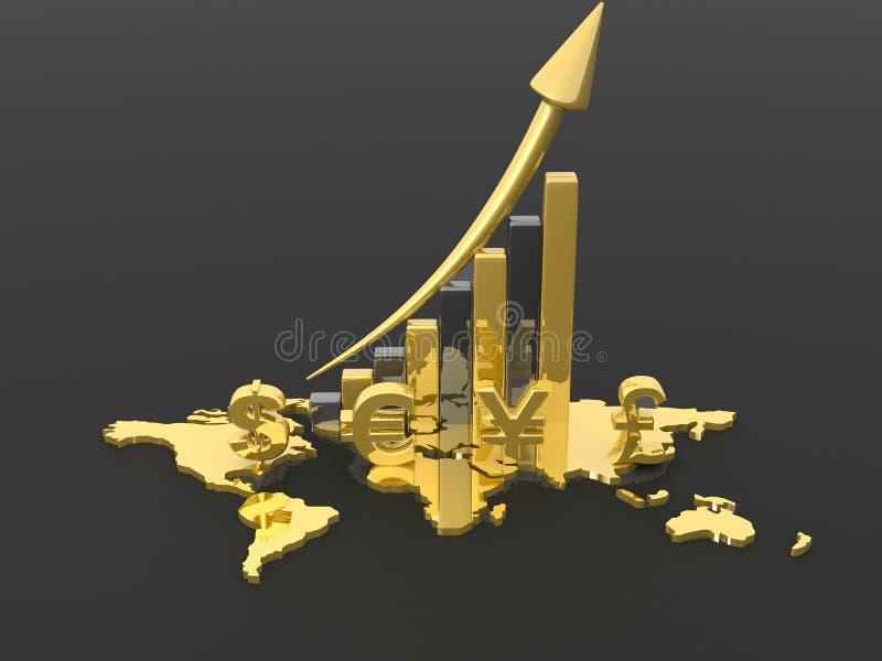 dynamiczny biznesowego makro wartości sprzedaży royalty ilustracja