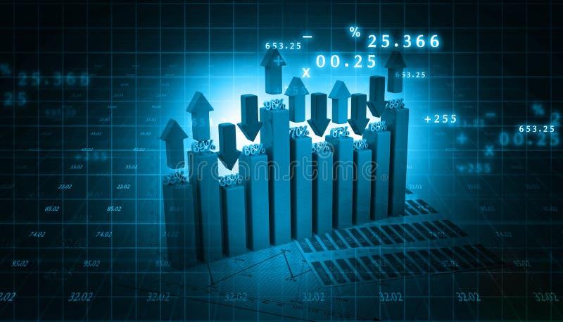 dynamiczny biznesowego makro wartości sprzedaży ilustracja wektor