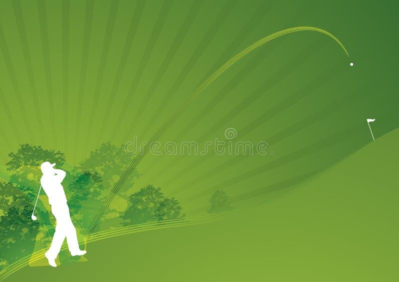 dynamiczny golfowy elegancki swing01 royalty ilustracja