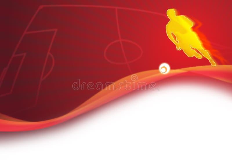 dynamiczny tło futbol royalty ilustracja