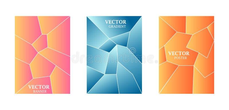 Dynamiczny t?o z gradientow? tekstur?, geometryczny wz?r z wielobokiem B??kit, menchia, brzoskwinia kolory ilustracja wektor