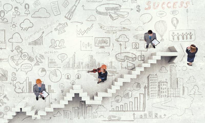 Dynamik des Wachstums im Geschäft stockfotos