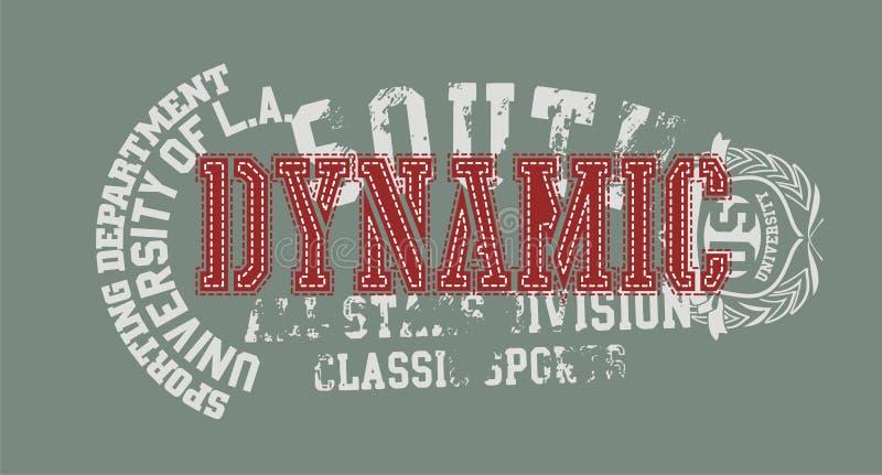 Dynamique rouge illustration de vecteur