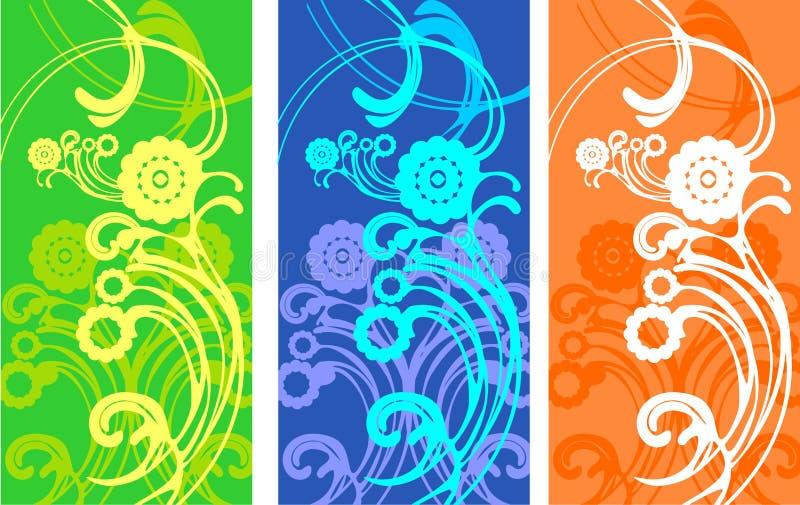 Dynamisch een abstract patroon in warm stock illustratie