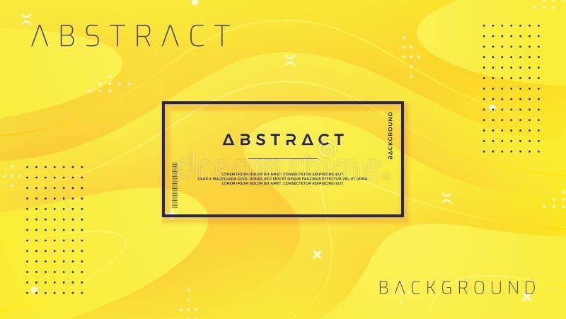 Dynamisch geweven ontwerp als achtergrond in 3D stijl met oranje kleur Eps10 vectorachtergrond royalty-vrije illustratie