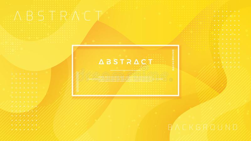 Dynamisch geweven ontwerp als achtergrond in 3D stijl met oranje kleur Eps10 vectorachtergrond stock illustratie