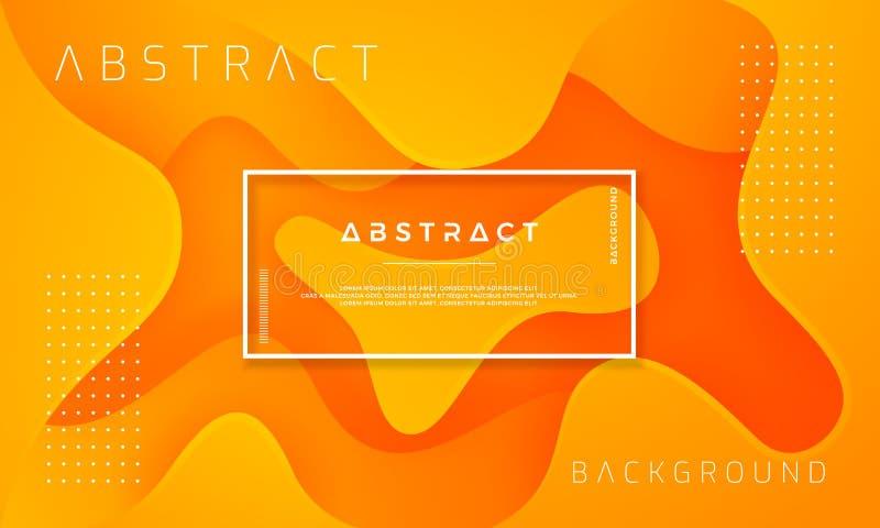 Dynamisch geweven ontwerp als achtergrond in 3D stijl met oranje kleur Kan voor affiches, aanplakbiljetten, brochures, banners, w stock illustratie