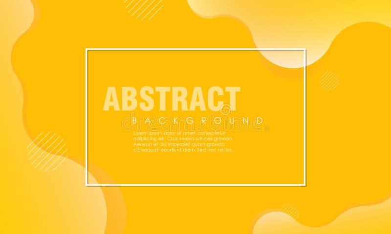 Dynamisch geweven ontwerp als achtergrond in 3D stijl met oranje kleur vector illustratie