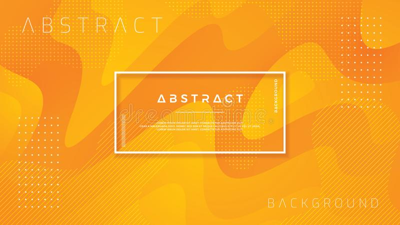 Dynamisch geweven ontwerp als achtergrond in 3D stijl met oranje kleur Vloeibare, vloeibare gradiënt vectorachtergrond royalty-vrije illustratie