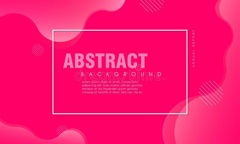 Dynamisch geweven ontwerp als achtergrond in 3D stijl met roze kleur stock illustratie
