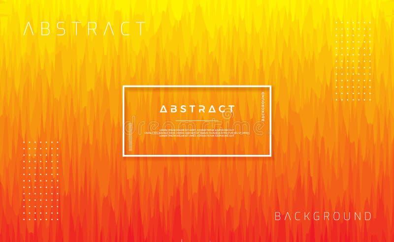 Dynamisch geweven ontwerp als achtergrond in vlakke stijl met oranje kleur In achtergrond met de in samenstelling van de gradiënt stock illustratie