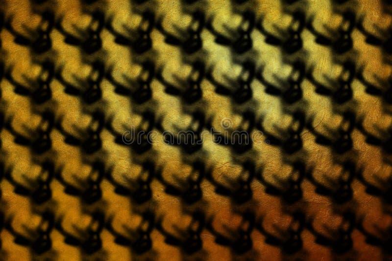 Dynamisch modern gouden digitaal ontwerppatroon op zwarte achtergrond stock illustratie