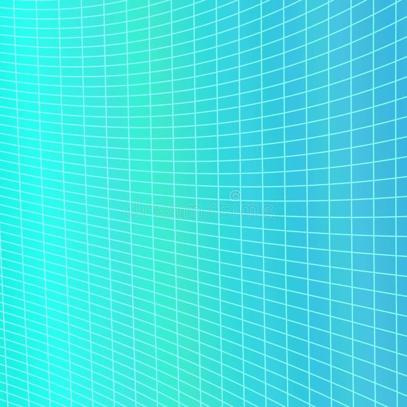 Dynamische abstracte geometrische netachtergrond - vector grafisch van gebogen hoekig gestreept net stock illustratie