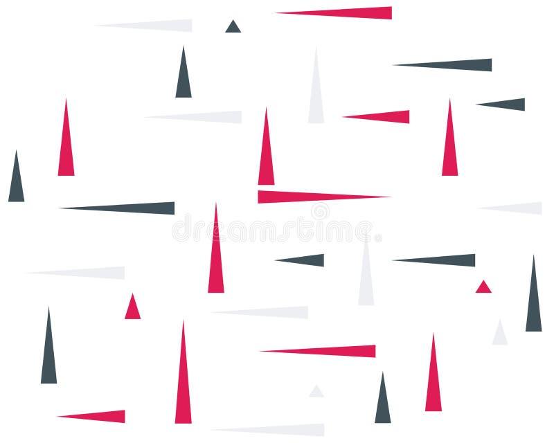 Dynamische achtergrond die uit gekleurde driehoeken, wijzers, pijlen, bewegingssymbool bestaan stock illustratie
