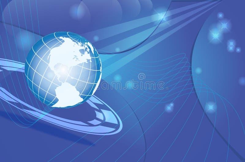 Dynamische de kaart van de wereld stock illustratie