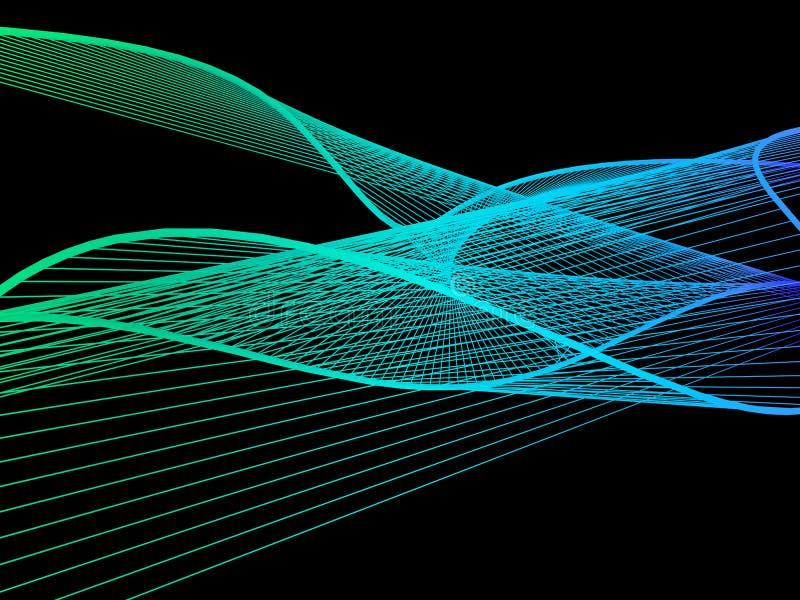 Dynamische en Heldere Lineaire Spiraal met Kleurrijke Gradiënt stock fotografie