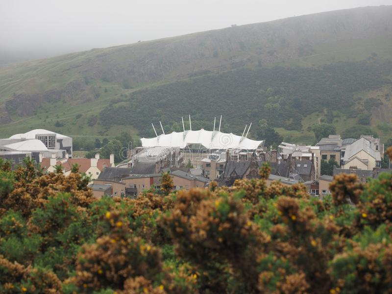 Dynamische Erdmitte in Edinburgh stockbild