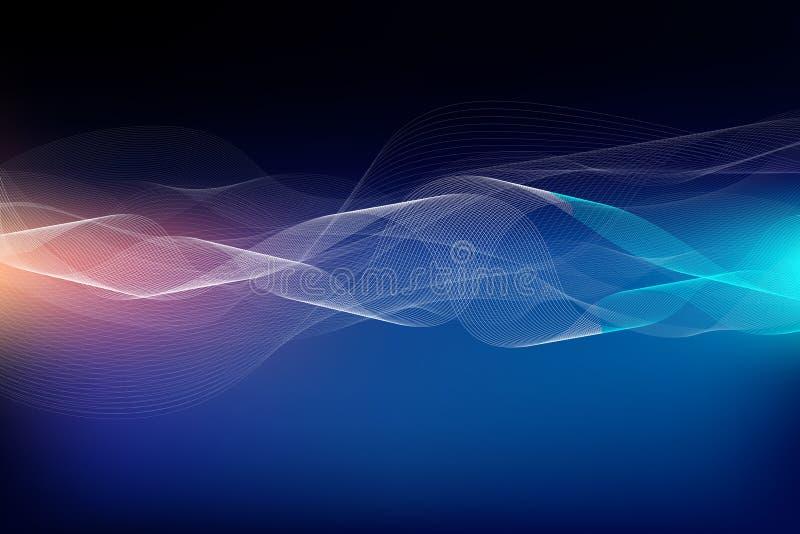 Dynamische interactie van aantrekkelijke vormen en lijnen over het onderwerp o vector illustratie
