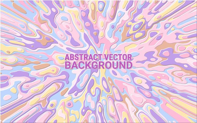 Dynamische kleurenachtergrond Vector Samenvatting in reliëf gemaakte textuur van marmer Zacht kleurenpalet stock illustratie