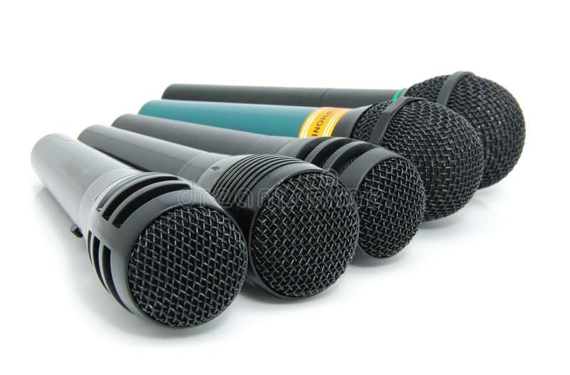 Dynamische microfoons royalty-vrije stock afbeelding