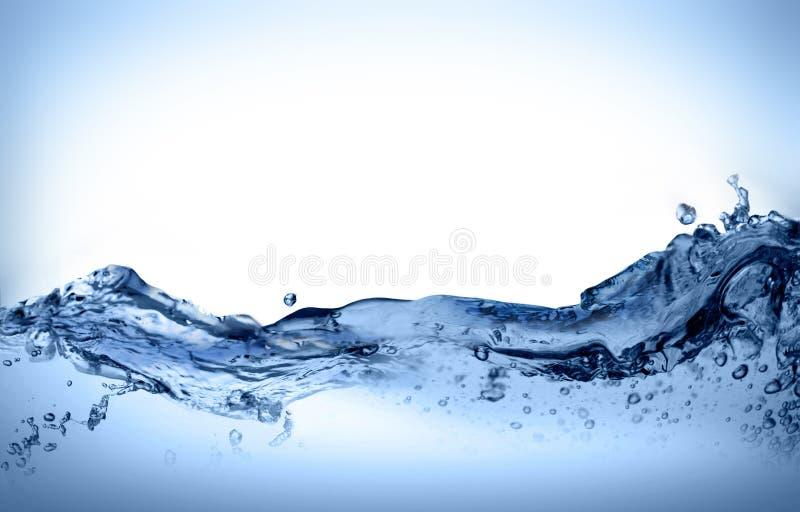 Dynamische waterbeweging stock afbeelding
