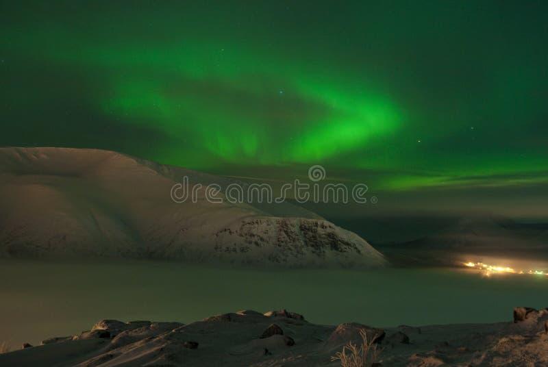 Dynamischer Aurorapolarstern lizenzfreie stockbilder