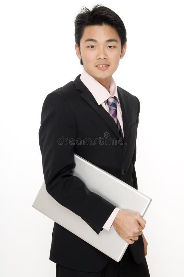 Dynamischer Geschäftsmann lizenzfreie stockfotos