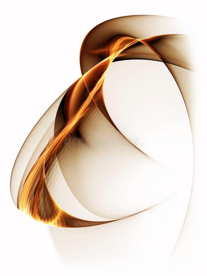 Dynamischer goldener abstrakter Hintergrund auf Weiß vektor abbildung